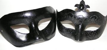 His & Hers Masks Silver lustre